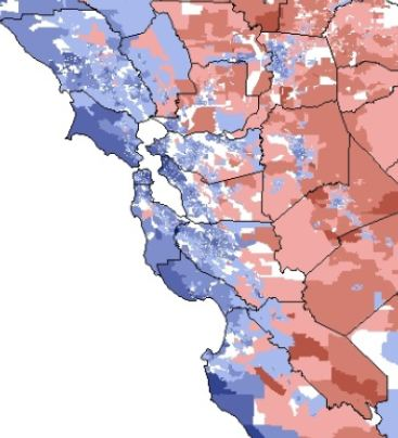 New Stus Map and Measure California's Politics « Calbuzz California Political Map on