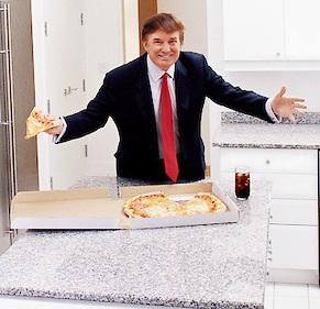 trump w pizza